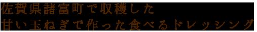 佐賀県諸富町で収穫した甘い玉ねぎで作った食べるドレッシング