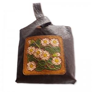 花柄ワンハンドバック
