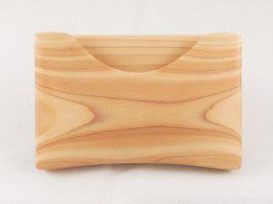 木製名刺入れ 木目模様 例2