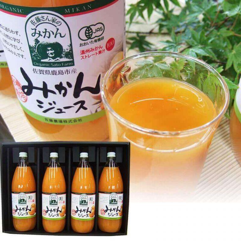 有機みかんジュース1000ml×4本(化粧箱)