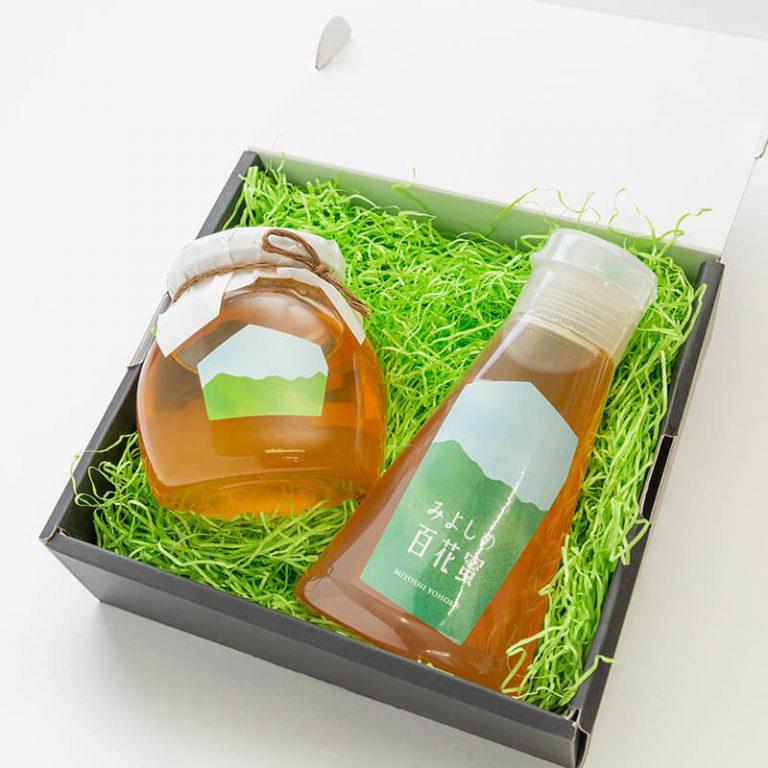 みよしの百花蜜220g チューブタイプ・瓶タイプセット 【箱入り】